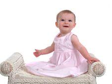 Free Smiling Baby Girl Stock Image - 5866111