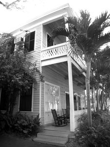 Key West Front Porch Stock Photos
