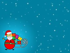Free Santa Blue Background Royalty Free Stock Images - 5866999