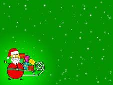 Free Santa Green Background Stock Photos - 5867073