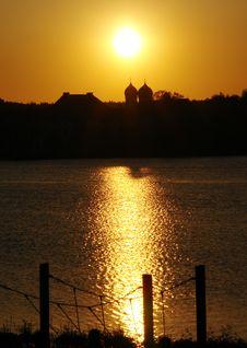 Evening Sun Above Seeon . Stock Photos