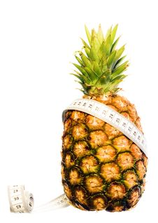 Free Pineapple On White Stock Photography - 5867582