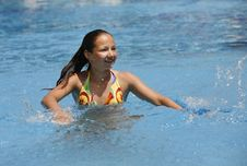 Free Girl - Teenager At Water-pool Stock Photography - 5867742