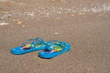 Free Beach Slippers Royalty Free Stock Photo - 5868735
