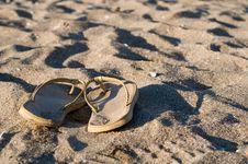 Free Beach Slippers Royalty Free Stock Photo - 5868755