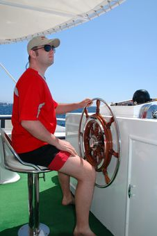 Free Captain At The Helm Stock Photo - 5869710