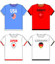 Free Graphic T Shirts With National Royalty Free Stock Photography - 5875577