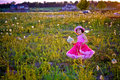 Free Child In A Flower Field Royalty Free Stock Images - 5875959