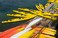 Free Yellow Kayaks At Dock Royalty Free Stock Photography - 5879317