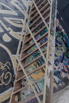 Free Graffiti Stair Case Royalty Free Stock Photo - 5870405