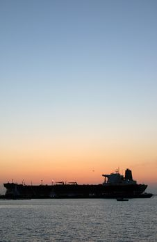 Free Ferry Boat Silhouette Stock Image - 5871101