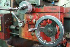 Free Old Steel Lathe Royalty Free Stock Photos - 5871838