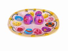 Free Decorative Egg Plate Stock Photography - 5871842