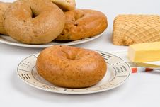 Free Bagels For Breakfast Stock Photography - 5871932