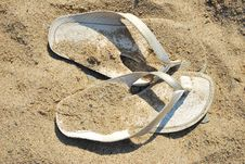 Free Sandals On The Sand Stock Photos - 5871963