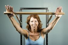 Free Woman Doing A Strength Workout Stock Image - 5872071