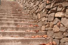 Steep Outdoor Staircase Royalty Free Stock Photography