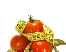 Free Tomatos And Tape Measure Stock Image - 5872641
