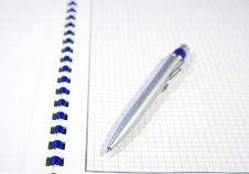 Free Pen And Spiral Notebook Stock Images - 5872734