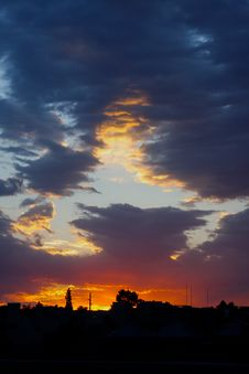 Free Neighborhood Sunset Stock Images - 5873104
