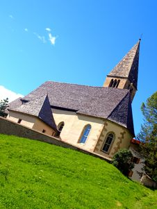 Free San Michele Church In Sud Tyrol Royalty Free Stock Images - 5873199