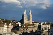 Free Zurich S Cathedral Royalty Free Stock Photo - 5873205