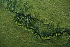 Free River Meandering Across Masai Mara Stock Images - 5873684