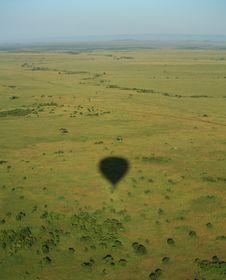Free Balloon Shadow Over The Masai Mara Stock Photo - 5873750