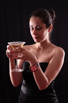 Free Woman And Martini Glass Stock Photos - 5873993