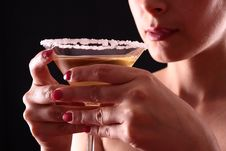 Free Woman And Martini Glass Royalty Free Stock Photo - 5873995