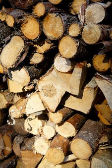 Free Pile Of Wood Stock Image - 5874001