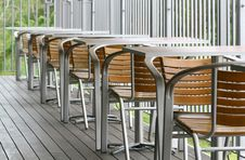 Out Door Dining Tables And Chairs Stock Images
