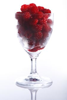 Free Raspberries In A Glass Stock Photos - 5874243