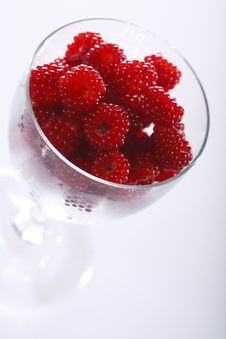 Raspberries In A Glass Stock Photography