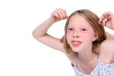 Girl With Tongue Out Stock Photos