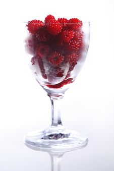 Free Raspberries In A Glass Royalty Free Stock Images - 5874469