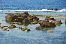 Rocks In The Mediterrean Sea Royalty Free Stock Photo