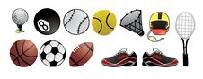 Free Sport Balls Detail Vector Royalty Free Stock Image - 5875476