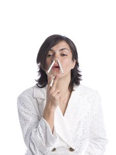 Free Attractive Young Latina With Cigarettes Royalty Free Stock Photography - 5875477