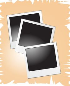 Free Blank Polaroids Vector Illustr Royalty Free Stock Photography - 5875607