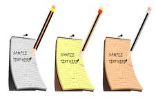Free Notepad And A Paper Clip Stock Photos - 5875613