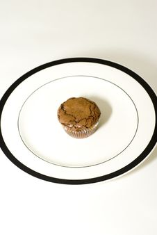 Free A Brownie Cupcake Royalty Free Stock Photo - 5875735