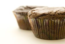 Free Two Brownie Cupcakes Royalty Free Stock Photos - 5875768