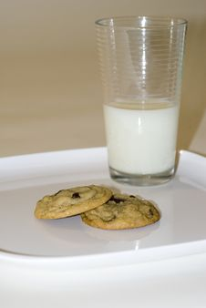Free Cookies And Milk Stock Photography - 5875862