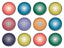 Buttons Multi Blank Royalty Free Stock Photo