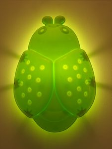 Free Green Bug Light Stock Image - 5877141