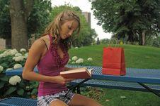 Free Woman Reading Book Stock Photos - 5877663