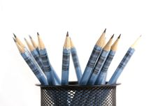 Free Wooden Pens On Pen Holder Royalty Free Stock Images - 5877789