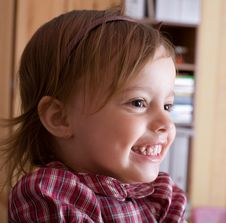 Free Portrait Of A Joyful Little Girl Royalty Free Stock Photo - 5877885