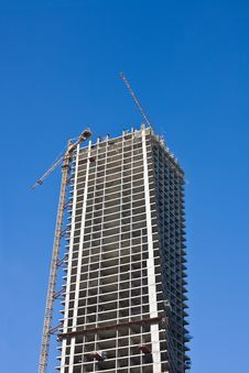 Free Cranes And Building Construction Royalty Free Stock Images - 5877909
